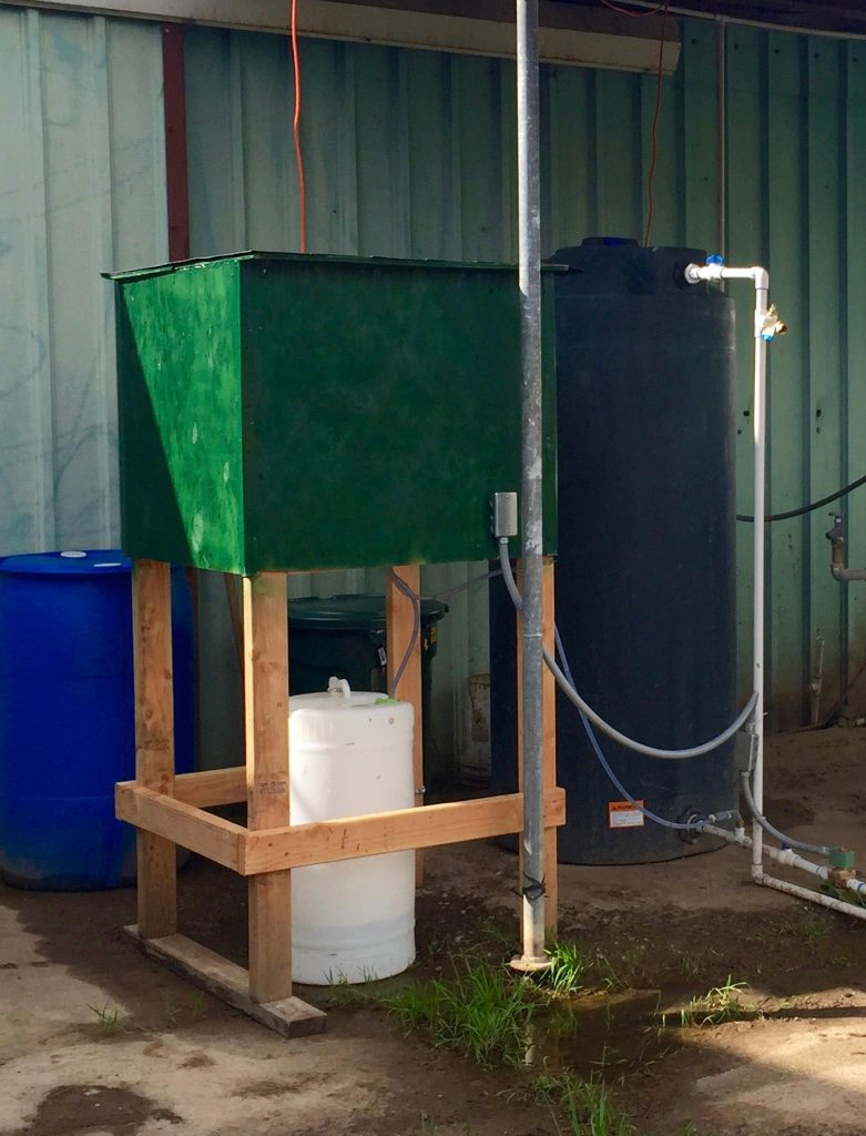 The most important part of the system is the microbial treatment filter that biologically treats nitrates without creating a brine stream. The microbes are propagated from existing populations found in nearby waterbodies.